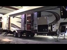 2014 Columbus 385BH Five Slide Bunk House Fifth Wheel! - YouTube