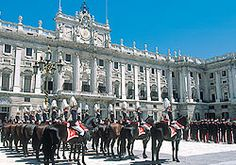 the royal palace- madrid, spain - If I couldn't marry a Bull Fighter - then it was going to be one of these guys!!!