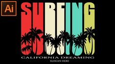 Adobe Illustrator CC Tutorial - How to Create a Holiday/Surfing Poster...