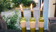Turn Wine Bottles Into Tiki Torches | Darby Smart