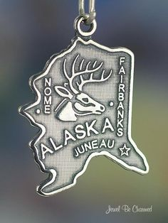Alaska+Charm+Sterling+Silver+State+America+USA+by+jewelbecharmed,+$12.95