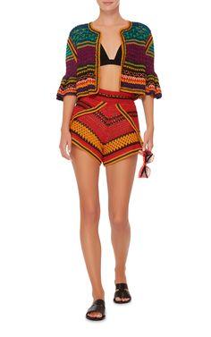 Tulum campana Crochet Cardigan da Spencer Vladimir   Moda Operandi