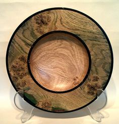 Coloured Burr Oak Platter