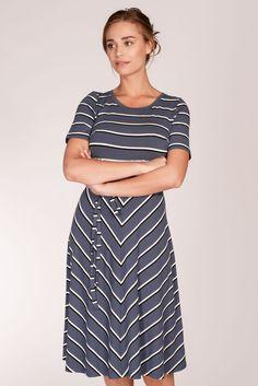 Agnes stripe dress - Blue | Provrummet.se