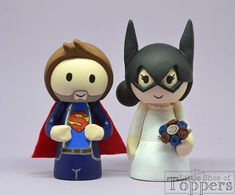 Items similar to Wedding Cake Topper - Superhero Bride & Groom on Etsy Wedding Cake Toppers, Wedding Cakes, Superhero Cake Toppers, Bride Groom, Sonic The Hedgehog, Handmade Gifts, Etsy, Wedding Gown Cakes, Kid Craft Gifts