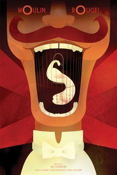 Moulin Rouge! (2001) ~ Minimal Movie Poster by Alexandra Clotfelter #amusementphile