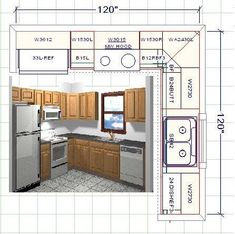 10 x 8 kitchen layout - Google Search Similar layout with island and ...