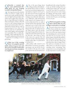 Sonoma West feature story on Lisa Mattson: Jordan Director of Communications