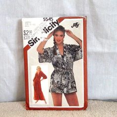 Vintage Misses Robe Kimono Simplicity 5545 uncut by streetcrossing