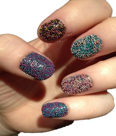 Imported 12 Jar Mixed Colors Caviar Nail Art Micro Beads