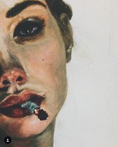 Portrait with cigarette, painting Art Painting, Art Photography, Art Drawings, Drawings, Amazing Art, Painting, Art, Portrait, Beautiful Art