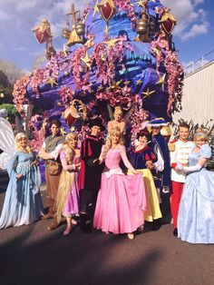 The Blue Fairy, Tinkerbell, and Disney Princes and Princesses