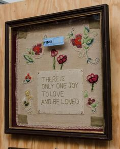There is only one Joy framed Victorian needlework