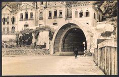 São Paulo - Santos - Tunel - obra finalizada. Fotografia original antiga de 1955.