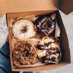 donuts, waffles, and yummy breakfast treats I Love Food, Good Food, Yummy Food, Tumblr Food, Fast Food, Food Inspiration, Sweet Recipes, Cravings, Sweet Tooth