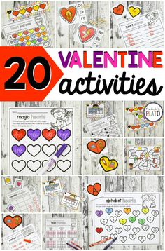 Fun Valentine's Day activity pack for preschool and kindergarten! ABC games, sight word activities, conversation heart estimating, math games… lots of ideas! Kindergarten Language Arts, Homeschool Kindergarten, Teach Preschool, Kindergarten Centers, Homeschooling, Valentines Day Activities, Holiday Activities, Valentine Games, Valentine Ideas