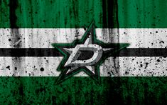 Download wallpapers 4k, Dallas Stars, grunge, NHL, hockey, art, Western Conference, USA, logo, stone texture, Central Division
