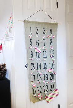 modern christmas advent calendar