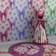 Butterfly patterns by Trudie55 - Sims 3 Downloads CC Caboodle