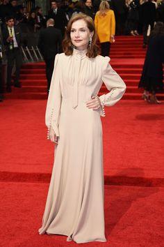 Isabelle Huppert in Chloé at the 2017 BAFTA Awards #2017 #BAFTAs