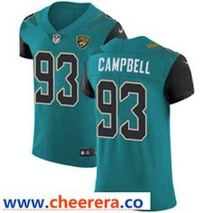 Menu0027s Nike Jacksonville Jaguars #93 Calais Campbell Teal Green Team Color  Stitched NFL Vapor Untouchable