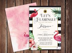 Let's Flamingle Tropical Flamingo by papermeblossom on Etsy