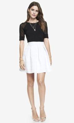 HIGH WAIST ELASTIC FULL SKIRT - Fun and flirty skirt...and it fits like a glove.