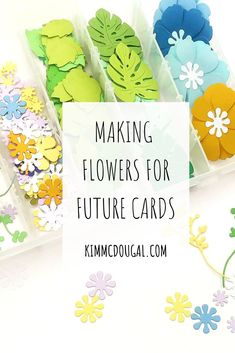 Since I'm almost one year into making greeting cards, I've learned a few things and one of them is prepping beforehand. When, I have my pieces all done ahead of time, making cards is easy especially mass producing them. I LOVE making flowers but I was looking for a way to organize all my pieces and store them away for future cards. Read the full post! Making Greeting Cards, Making Cards, Article Writing, Organize, Prepping, Organization, Future, Learning, My Love