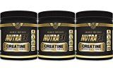 Micronized Creatine Monohydrate Powder  Unflavored  5 G Per Serving  180 Servings  Best Creatine Bodybuilding Supplements  Pre Workout Endurance Supplements by NutraFX (3 Pack)