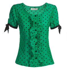 File:Pinky Swear Blouse (Green-Black) $149 front.jpg