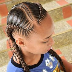 African Hair Braiding : Image may contain: one or more people and closeup - Beauty Haircut Feed In Braids Hairstyles, Braids For Short Hair, African Hairstyles, Braided Hairstyles, Girl Hairstyles, Black Girl Braids, Baddie Hairstyles, Girls Braids, Braided Ponytail