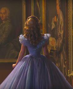 Lily James behind the scenes in Cinderella - 2015