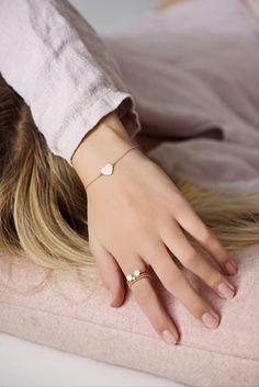 Armband in Rosegold mit Herz / rosegold bracelet by Lebenslustiger via DaWanda.com