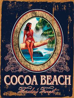 Cocoa Beach Custom Sign: Beach Decor, Coastal Decor, Nautical Decor, Tropical Decor, Luxury Beach Cottage Decor