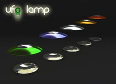 UFO lamp. Uses magnets to make the top float above the base. I want one.