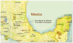 Map, San Miguel de Allende, Mexico