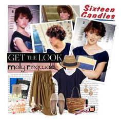 """""""Get the LOOK:Molly Ringwald in Sixteen Candles"""" by bamaannie ❤ liked on Polyvore featuring Monki, Gap, Shaun Leane, Blu Bijoux, Y's by Yohji Yamamoto, Daisy Jewellery, Dune, Kate Spade, Oasis and Ralph Lauren"""