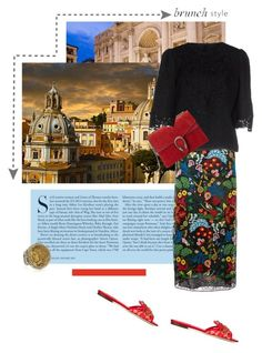 """""""Rome"""" by theitalianglam ❤ liked on Polyvore featuring Kershaw, Valentino, Konstantino, Dolce&Gabbana, Gucci, valentino, gucci, brunch and dolcegabbana"""
