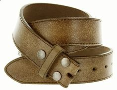 Womens Vintage Look Distressed Leather Strap Belt Snap On (M(33-35), Brown). Go to the website to read more description.