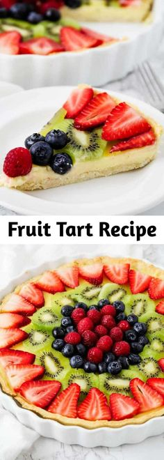Entree Recipes, Tart Recipes, Fruit Recipes, Appetizer Recipes, Baking Recipes, Sweet Recipes, Dessert Recipes, Appetizers, Custard Filling
