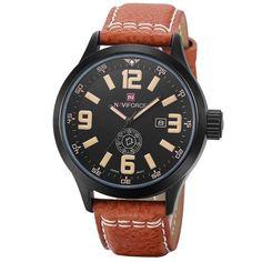 Watches men NAVIFORCE brand Quartz watch Leather Fashion Casual reloj  hombre Army Military Sport wristwatch relogio masculino 830b97686331
