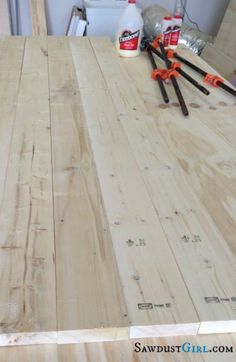 Building wooden countertops