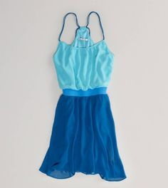 american eagle dresses | AE Colorblock Chiffon Dress | American Eagle Outfitters on Wanelo