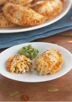 Cheesy Chicken Empanadas – Shredded chicken, chipotle-flavored mayo, melty cheese, and fresh cilantro taste even better when tucked into pockets of empanada deliciousness!