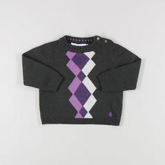 Jersey de rombos punto de color Morado de marca Pili Carrera
