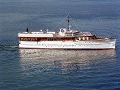 "JFK's yacht, ""The Honey Fitz""."