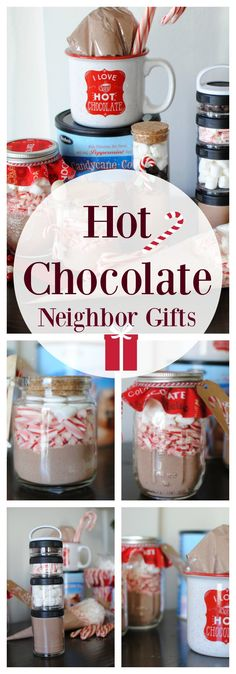 Love, love love the idea of giving hot cocoa for a Christmas neighbor gift!!  We really love this one and also have a giveaway for a full year supply of hot chocolate from @stephensgourmet #ad