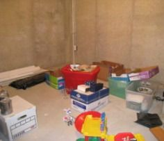 How to utilize an unfinished basement without spending the money to finish it