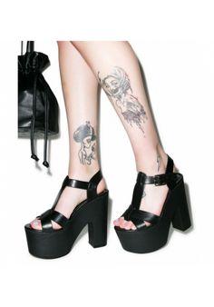 Chunky platform heels
