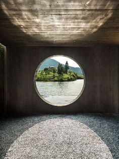 DnA architecture and design casts concrete damushan tea house